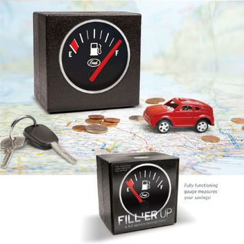 FRED FILL 'ER UP Gas Tank Coin Bank