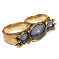 GYPSY WARRIOR - Moonstone Double Finger Ring
