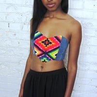 southwest mini bustier top