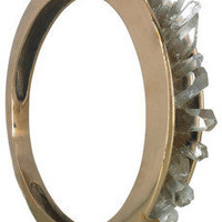 Pamela Love | Bronze and quartz crystal bangle | NET-A-PORTER.COM