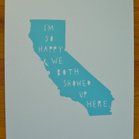 CALIFORNIA I'm So Happy by TwoSarahs on Etsy