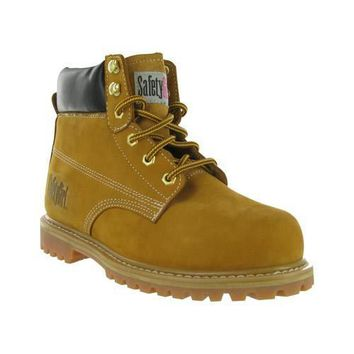 Safety Girl Steel Toe Waterproof Womens Work Boots - Tan