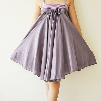 Wind of change Purple Cotton Dress 2 Sizes by aftershowershop
