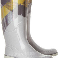 Burberry|Checked Wellington boots|NET-A-PORTER.COM