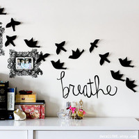 breathe wall decal by decalLOVE on Etsy