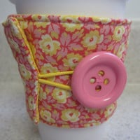Spring Flowers Coffee Cozy by LibbyandLee on Etsy