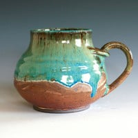 Large Coffee Mug Holds 19 oz handmade ceramic cup by ocpottery