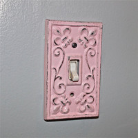 Candy Pink Decorative Light Switch Plate/ Single by AquaXpressions