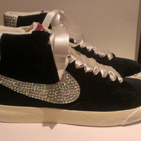 Customised Nike Blazers by MaesSparklers on Etsy