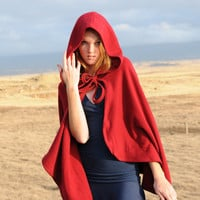 Winter Women's Red Riding Hood Costume Cape Cloak by SoulRole