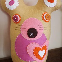 BOObeloobie Miley The Mouse In Pink, Orange, Cream And White Accents | Luulla