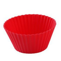 Round Silicone Mould for DIY Cake/Muffin/Cupcake/Soap Multicolor - $0.99
