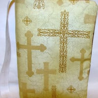 Cross Bible Cover by bagsbyhags45 on Etsy