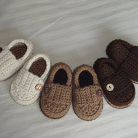 Baby Boy Button Loafers - Made to Order Booties