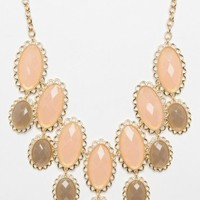 Hanging Cartesia Necklace in Saddle Peach - ShopSosie.com