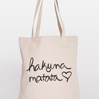 Hakuna Matata Cotton Shopping Bag Canvas Tote by ShopRIC on Etsy