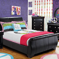 Miranda Black  5 Pc Full Bedroom