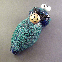 Glass Pipe Custom Munchie Monster Hedcraft Glassworks by Hedcraft