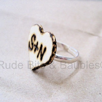 Tree Carved Ring Custommade by RudeBitsJewelry on Etsy