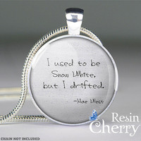 Mae West quote pendant charms,Snow White jewelry pendant,quote resin pendant- Q0191CP