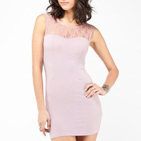 Sweetheart Lace Dress in Rose :: tobi
