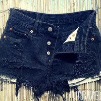 High Waisted Black Levis X SMALL by UnraveledClothing on Etsy