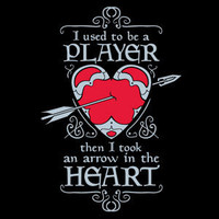 $16.99 ThinkGeek :: Then I Took an Arrow in the Heart (Men's T-shirt; Available in Women's)