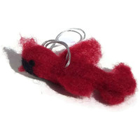 Needle felt cardinal red bird ornament by HeartFeltbyAndrea
