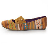 Blowfish Sadiki Yellow Multi Suranam Woven Fabric Flats - $43.00