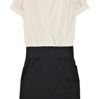 Paul & Joe Komaro wool-blend and silk-crepe dress - 55% Off Now at THE OUTNET