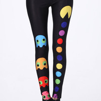 ROMWE | &quot;Web Game Role&quot; Black Leggings, The Latest Street Fashion