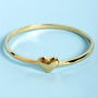 Feel the Love Gold Heart Bangle