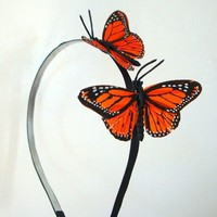 Monarch Butterflies by blacksatinshoes on Etsy