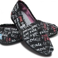 Women - Pink Let Love Rule Women's Vegan Classics | TOMS.com