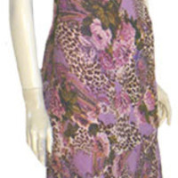 Eva Blue 1920s Inspired Cocktail Dress Beaded Animal Print NWT