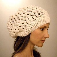 Woman's slouch hat Lake Effect by KittyDune on Etsy