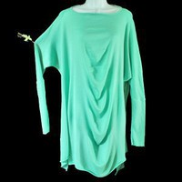Transparente Lagenlook Drape Light Tunic Sweater Free Size (S/M/L)