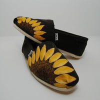 Sunflower CUSTOM TOMS by KellismCo on Etsy