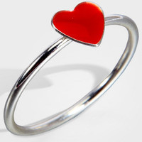 Heart Shaped Ring | Mini Red Heart Ring | fredflare.com