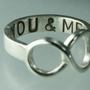 You ME Infinity Symbol Ring Sterling Silver Infinity by ExCognito