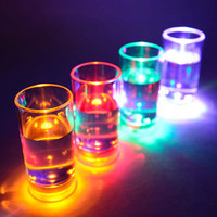 Aqua Glow Liquid Activated Flashing Shot Glasses 2.1oz / 60ml