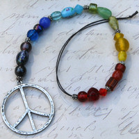 Charka, LOVE, Automobile, Rear View Mirror Hanging, Window, Color Band, Peace, Rainbow, Direct Checkout, Hippie, Beach