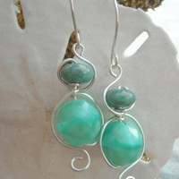 Caribbean Blue Earrings | Luulla