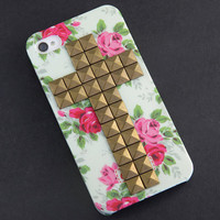 Iphone 4 Case studded iphone 4 case iphone 4s case by belindawen