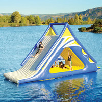 The Gigantic Water Play Slide - Hammacher Schlemmer