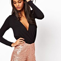 Sequin Short Romper