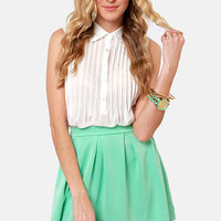Everything Illuminated Mint Green Skirt