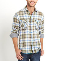 ideeli | ARNOLD ZIMBERG Plaid Shirt with Mini Checkered Lining