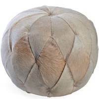 One Kings Lane - Traditional Home Napa Valley - Cowhide Medicine Ball
