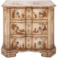 One Kings Lane - Gustav Carroll - Morris Chest Nightstand, White